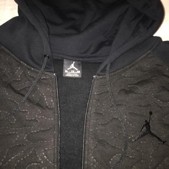 Mens Jordan Hoodie Zip Up Jacket Xl New